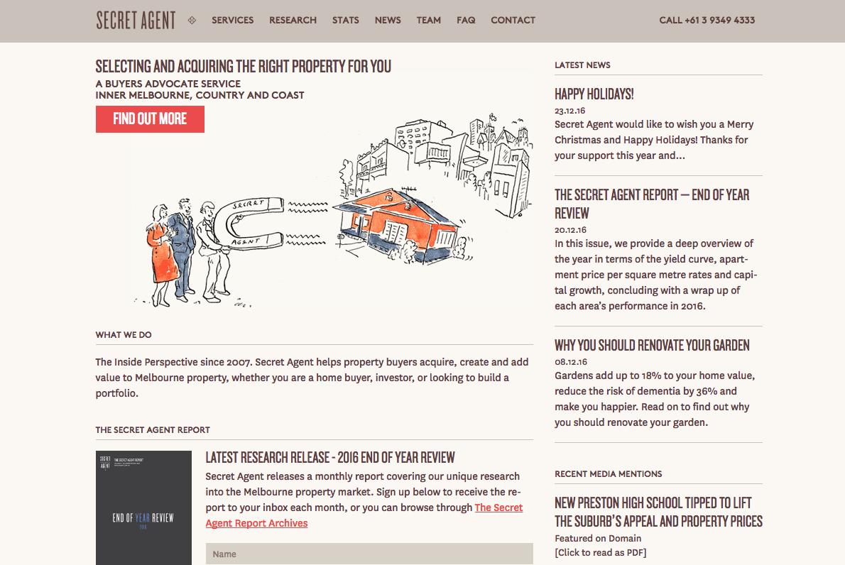 Secret Agent Website